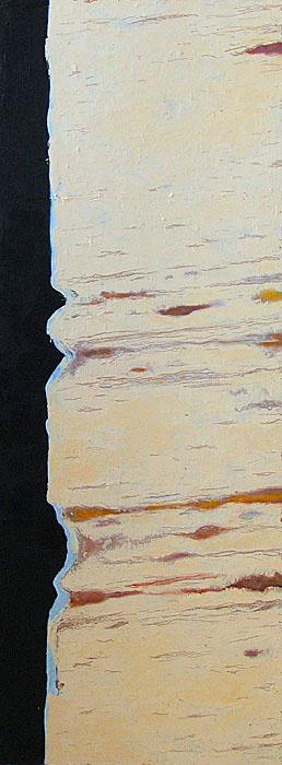 Ajan jäljet / Traces of time, 2008, acrylic and oil on masonite, 45cm x 122cm